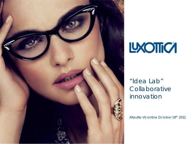 """Idea Lab"" Collaborative innovation"