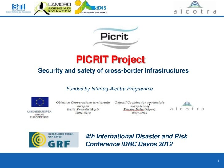 Security and safety of cross-border infrastructure
