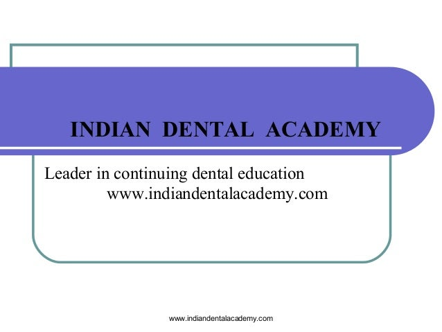 Serial extraction /certified fixed orthodontic courses by Indian dental academy