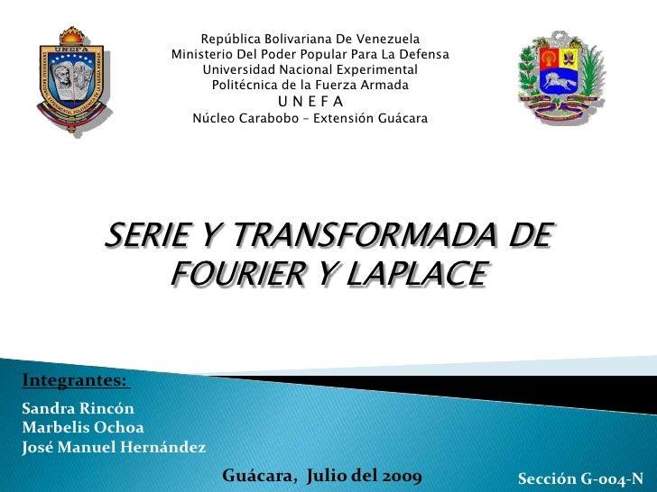 Serie Fourier/Transformada de laplace