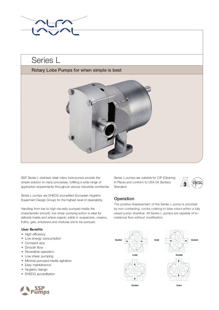 Series L        Rotary Lobe Pumps for when simple is bestSSP Series L stainless steel rotary lobe pumps provide the       ...