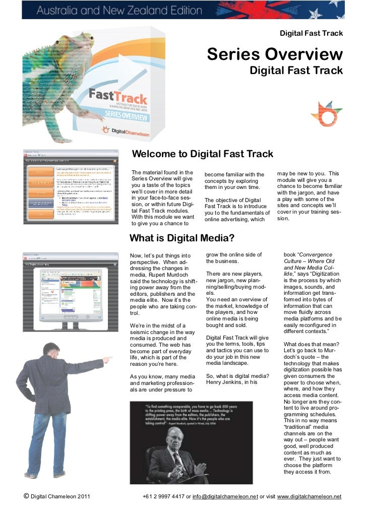 Digital Fast Track Series Overview Guide