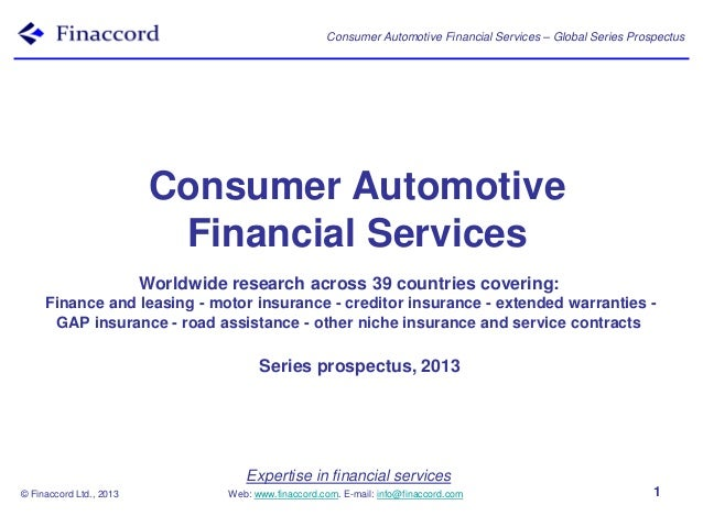 Expertise in financial services Web: www.finaccord.com. E-mail: info@finaccord.com Consumer Automotive Financial Services ...