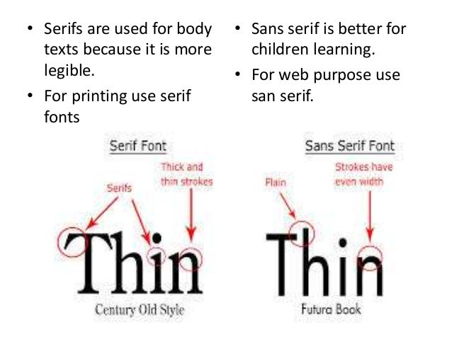 Which Are More Legible Serif Or Sans Serif Typefaces ...