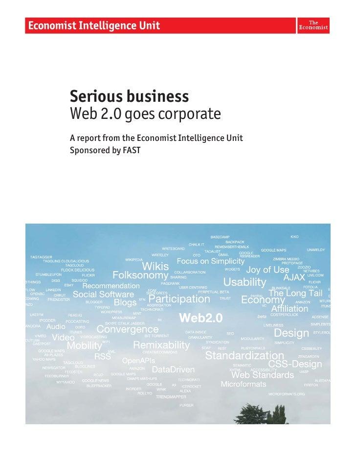 The Economist,  Serious Business, Web 2.0