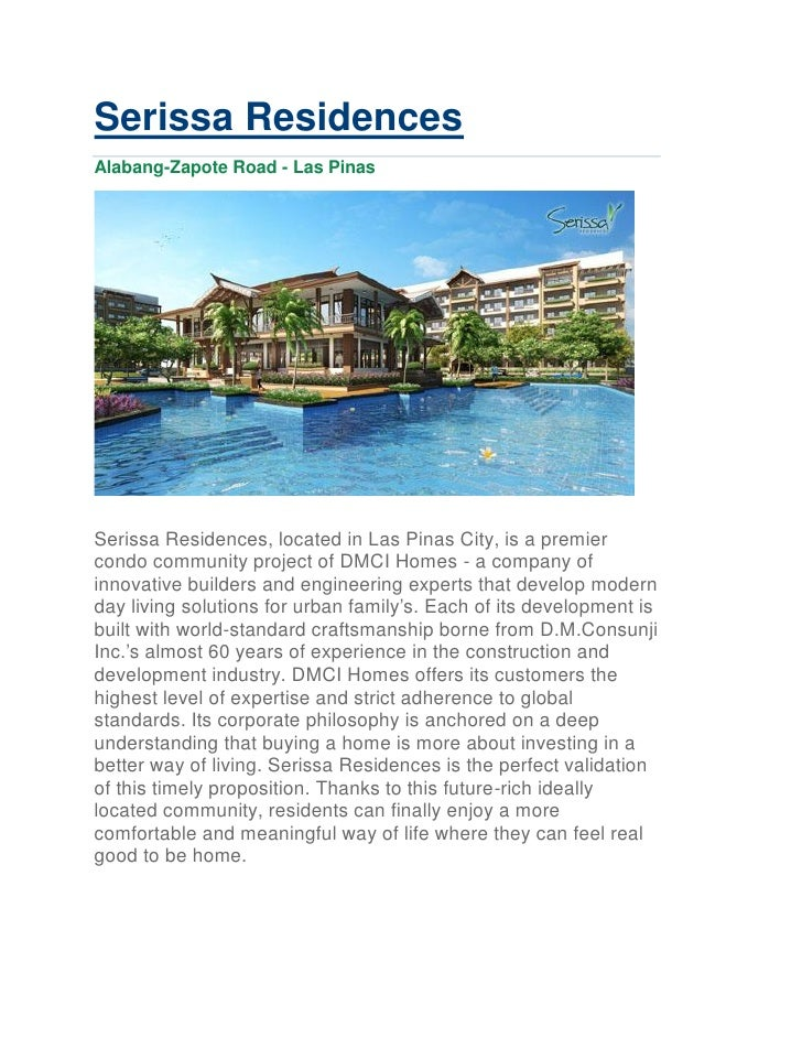 Serissa Residences Vacation Resort Condo Great Investment No Spot Downpayment
