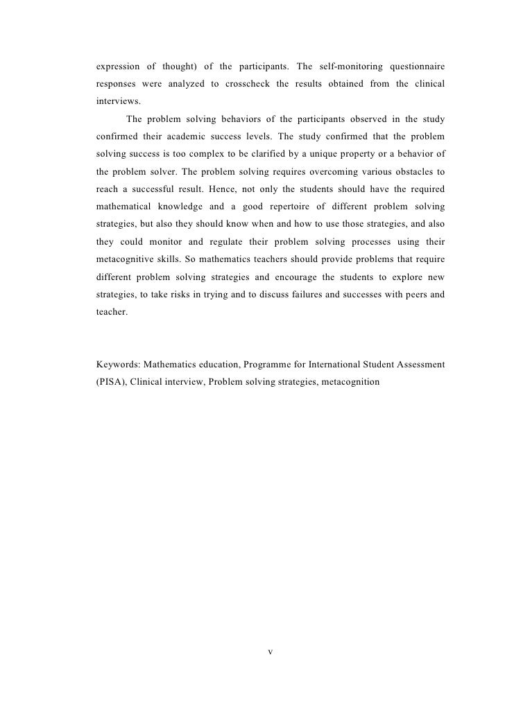 Self questioning strategies master thesis