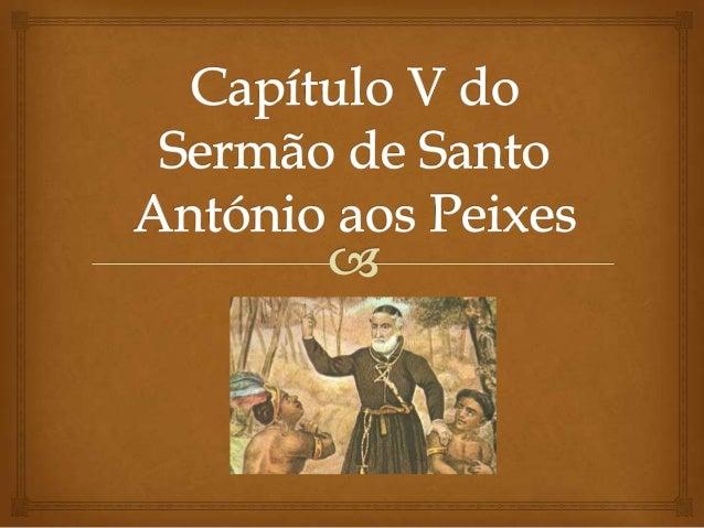 Sermão de santo antónio aos peixes - Capítulo V