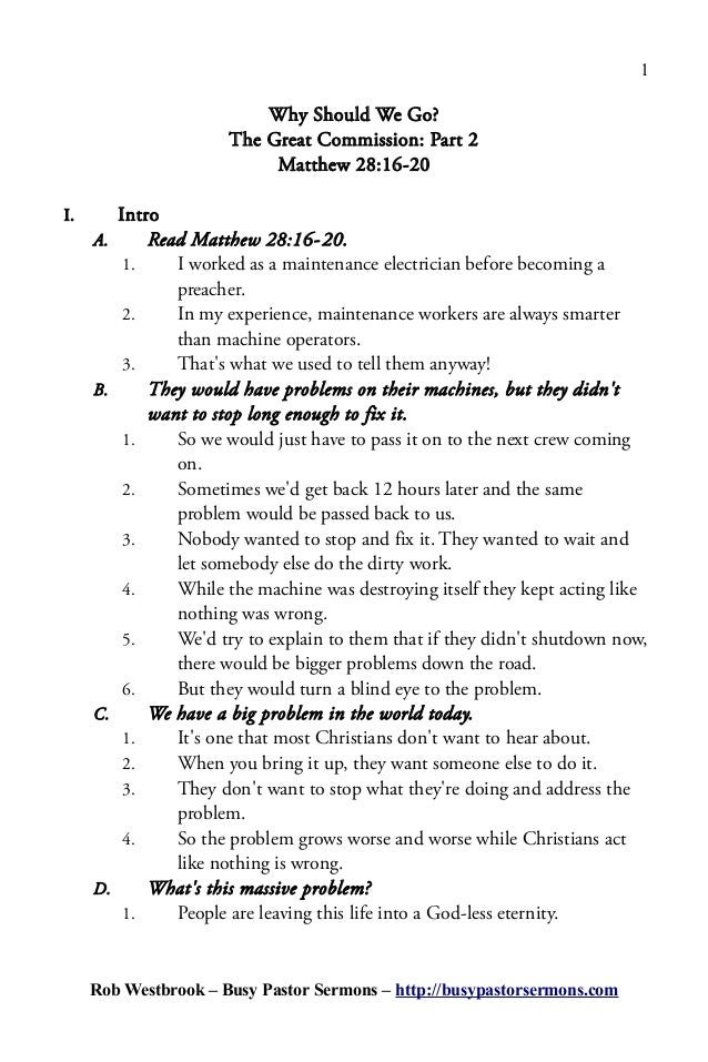 How to write a basic sermon outline