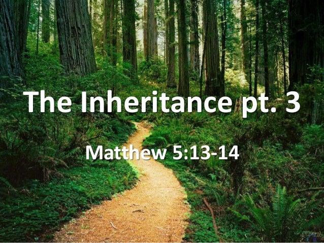 The Inheritance pt. 3 Matthew 5:13-14