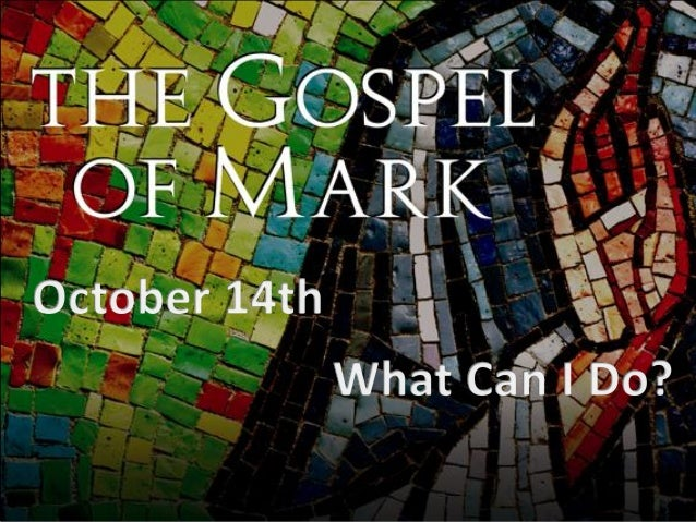 Sermon 10.14.12 - What Can I do?