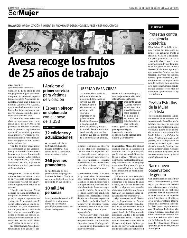 8 MÁSVIDA www.ultimasnoticias.com.ve                                                                                      ...