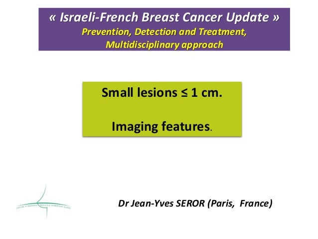 « Israeli-French Breast Cancer Update » Prevention, Detection and Treatment, Multidisciplinary approach Dr Jean-Yves SEROR...