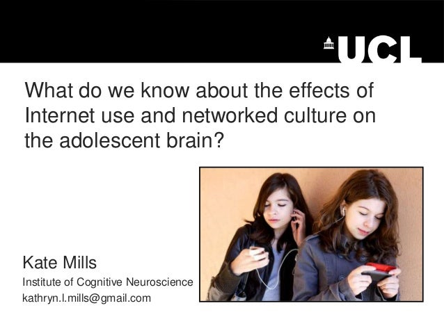 What do we know about the effects of Internet use and networked culture on the adolescent brain?