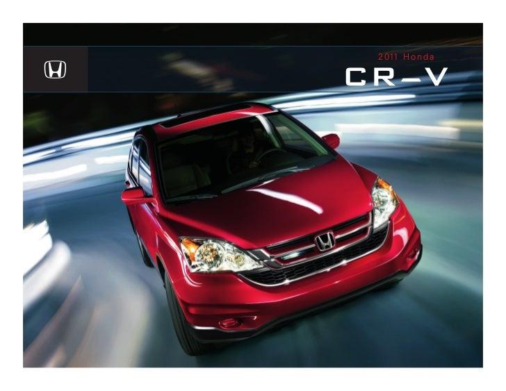 Serra Honda 2011 CR-V Brochure