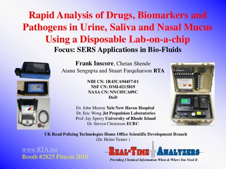 Rapid Analysis of Drugs, Biomarkers andPathogens in Urine, Saliva and Nasal Mucus    Using a Disposable Lab-on-a-chip     ...
