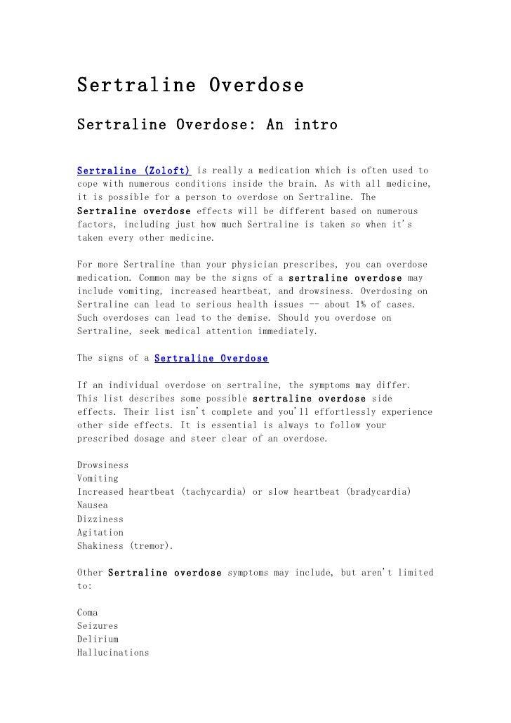 Sertraline overdose