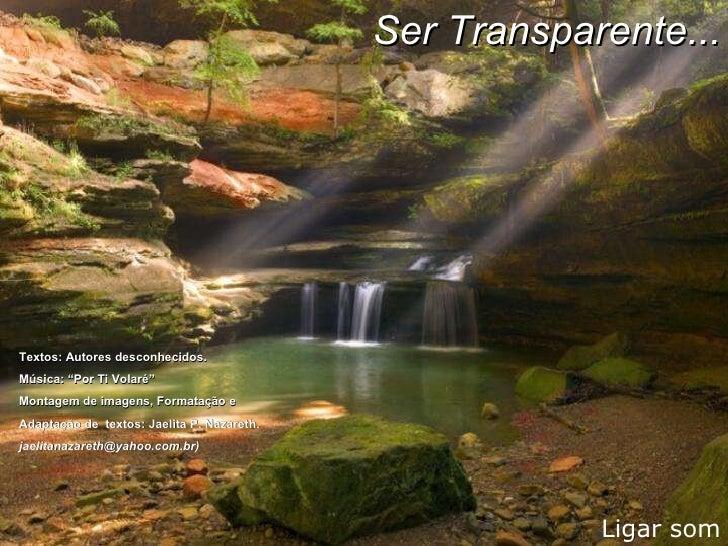 Ser Transparente