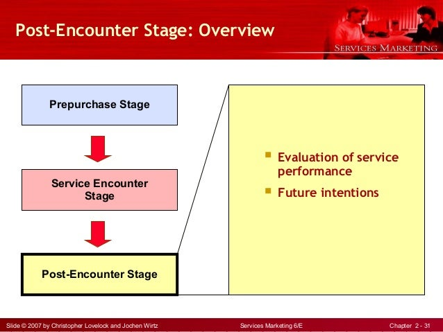 concept of services marketing service encounter stage Service encounter report 10 introduction the purpose of this report is to critically evaluate the services encounter using service marketing perspective in order to do this report, i had experience few service industries around kota kinabalu area.