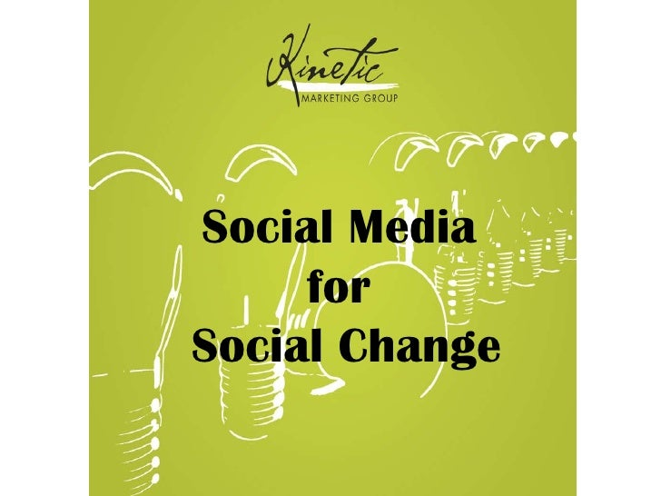 Social Media for Social Causes
