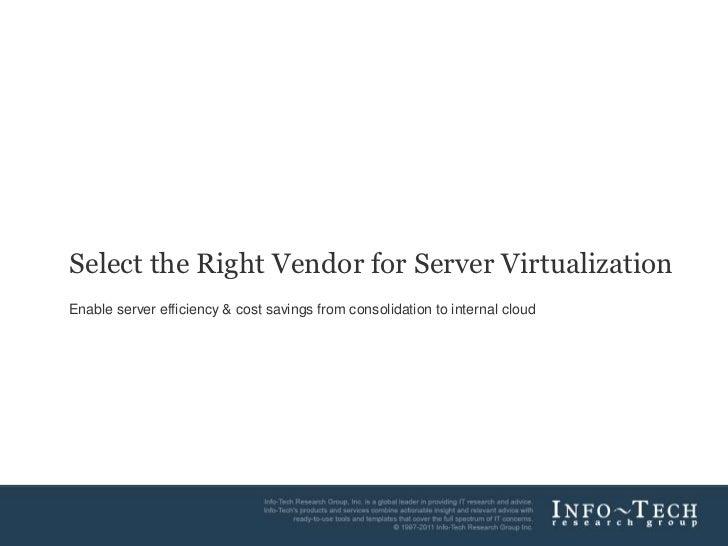 Server virtualization vendor landscape