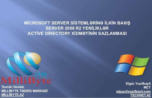 Server 2008 R2 Yeniliklər