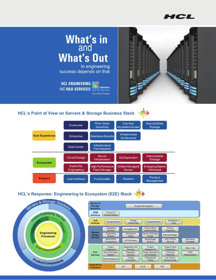 HCL's Point of View on Servers & Storage Business Stack                                               Price Value         ...