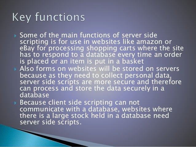How server-side and client-side scripting can be used together?