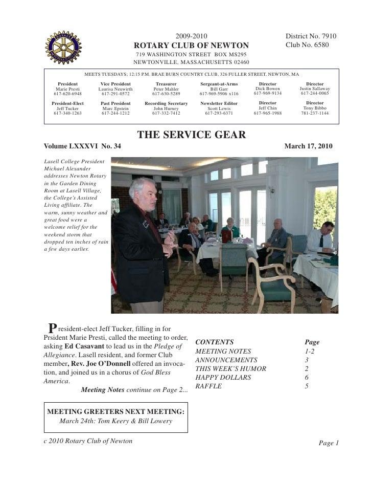 Service Gear Mar 17, 2010