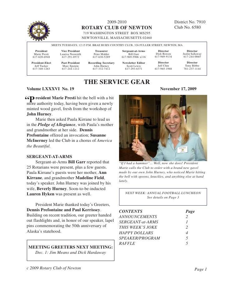 2009-2010                                      District No. 7910                                              ROTARY CLUB ...