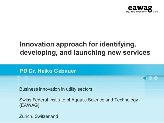 Service innovation for energy services: how to get from an idea to a service innovation