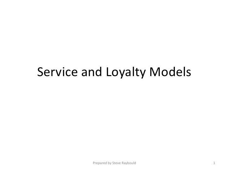 Service-Loyalty models