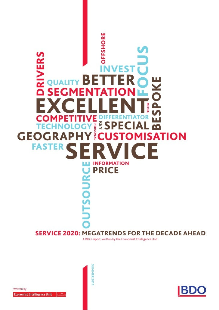 Service 2020 Megatrends for the Decade Ahead