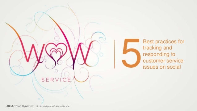 | Social Intelligence Guide for Service 5 Best practices for tracking and responding to customer service issues on social