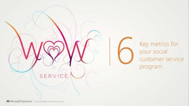 Key metics for your social customer service program
