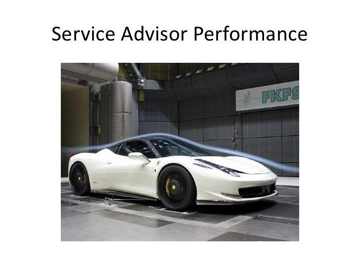 Service Advisor Performance