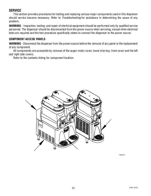 bunn slush machine troubleshooting