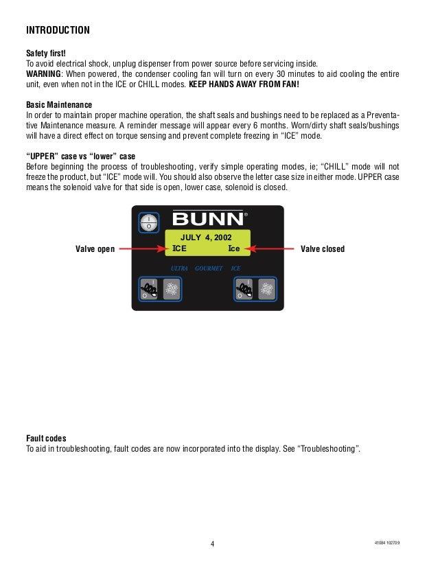 bunn ultra slush machine
