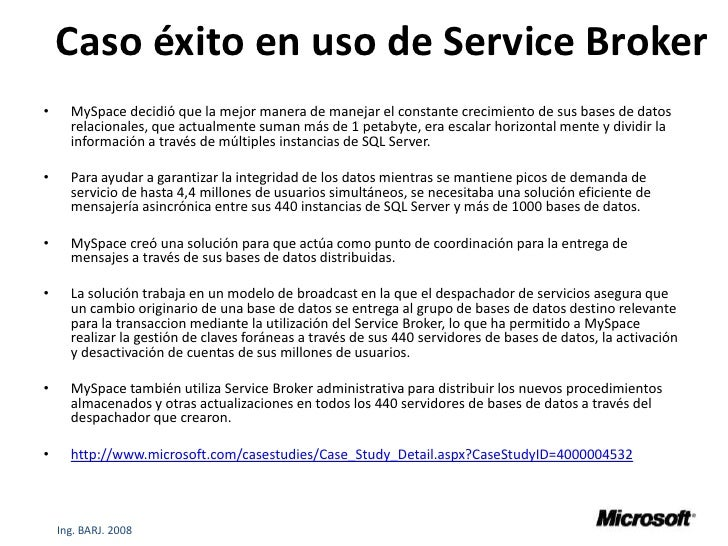 Broker sql server
