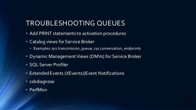 Service broker queue errors
