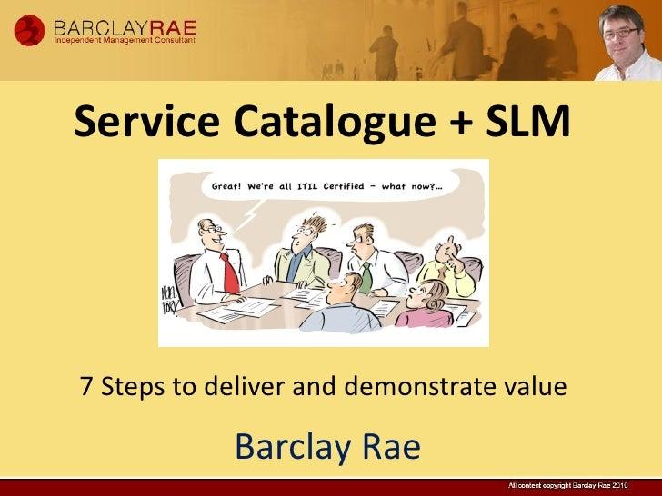 Service catalogue presentation
