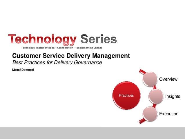 Service delivery governance