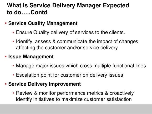 it service management and delivery job description images