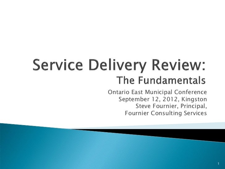 Service Delivery Review Fournier Consulting Services