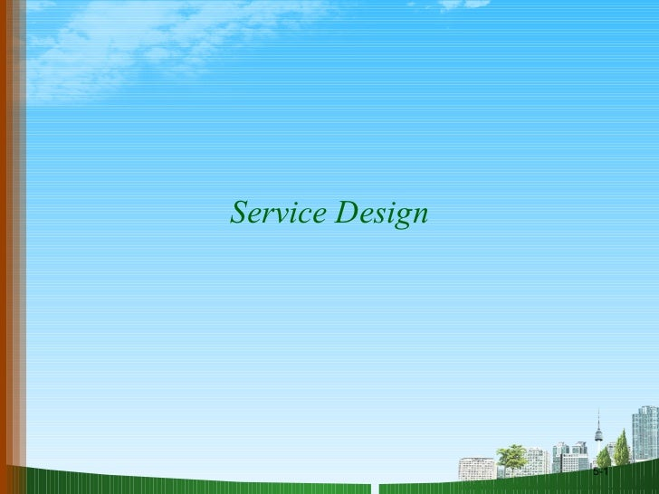 Service design om ppt @ DOMS