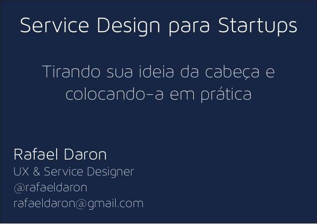 Service Design para Startups