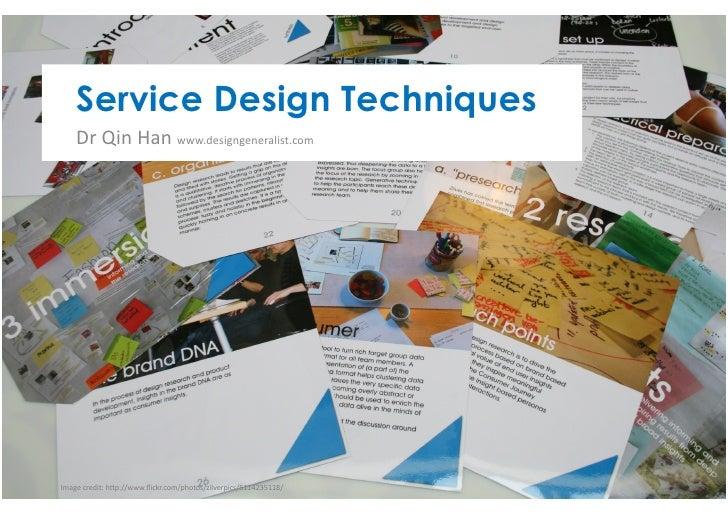 Service design techniques presentation at CETIS10 Conference