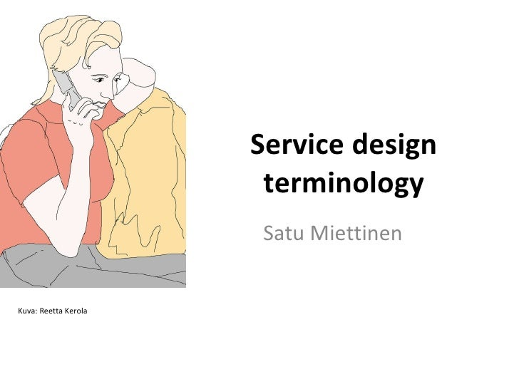 Service design terminology