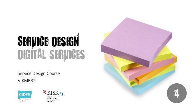 Service Design 4: Digital Services