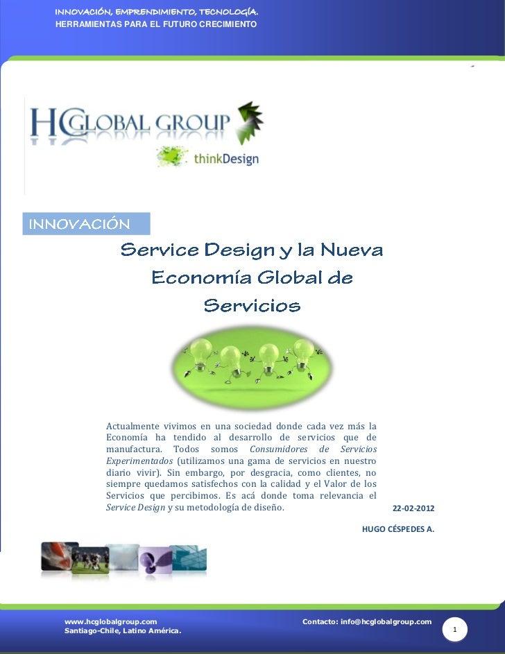 Service Design y la Nueva Economía Global de Servicios